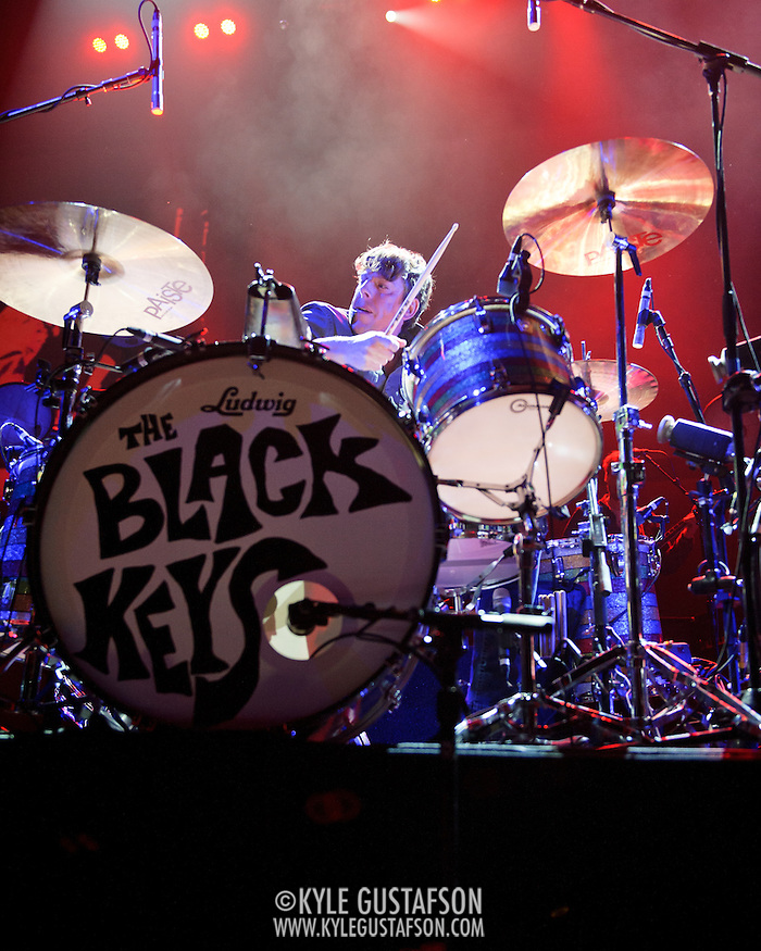 WASHINGTON, DC - March 9th, 2012 -  Patrick Carney of The Black Keys performs during a sold out show at the Verizon Center in Washington, D.C.  The duo's seventh studio album, El Camino, was released last December and debuted at number 2 of the Billboard 200. (Photo by Kyle Gustafson/For The Washington Post) (Kyle Gustafson/FTWP)