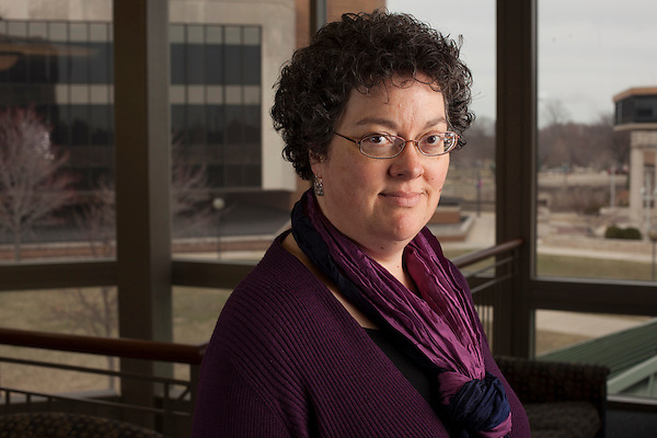 Dr. Lynn Fisher, associate professor of Sociology/Anthropology at the University of Illinois Springfield, is concerned about how she and other public university faculty will pay for retirement. Kristen Schmid for the Chronicle (Kristen Schmid)