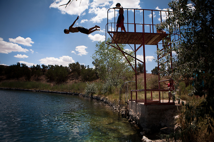 Swiming at Twin Lakes in Santa Rosa New Mexico (Steven St John)