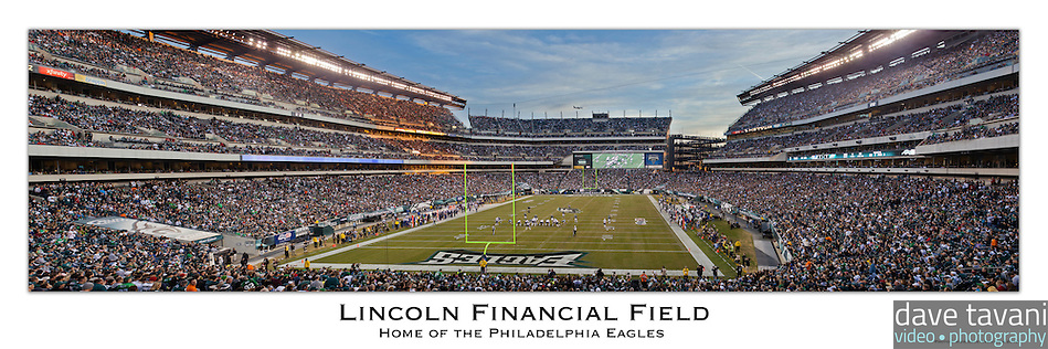 12x36 inch poster of Lincoln Financial Field. (Dave Tavani)