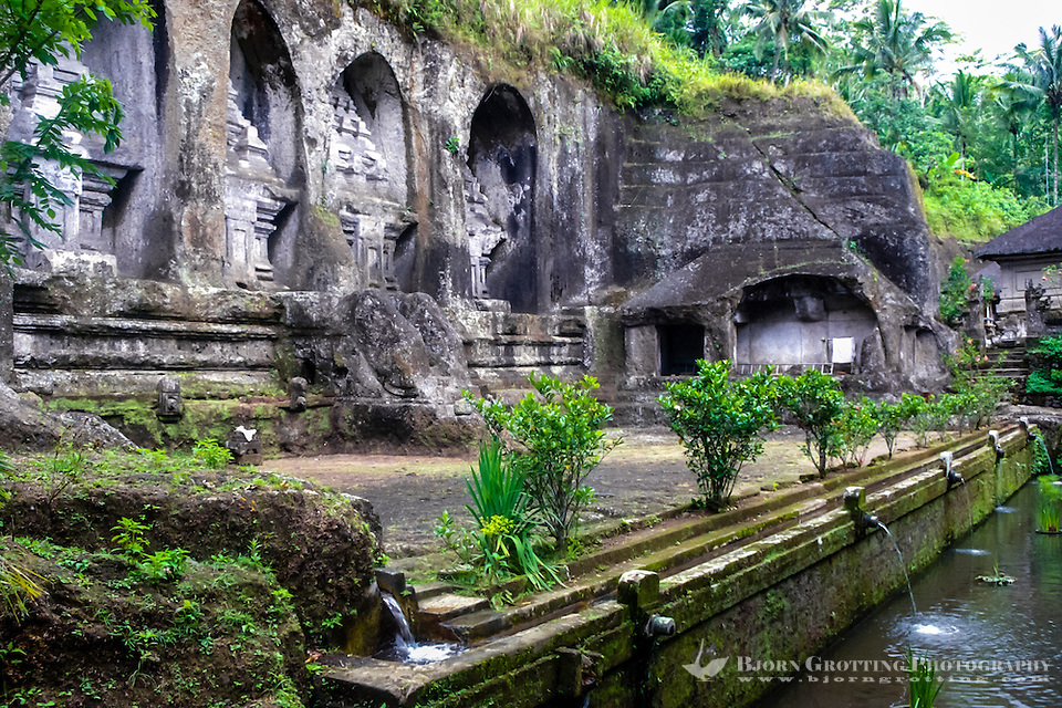 Bali, Gianyar, Gunung Kawi. An 11th century temple complex close to Tampaksiring. The eastern part of Gunung Kawi. (Photo Bjorn Grotting)