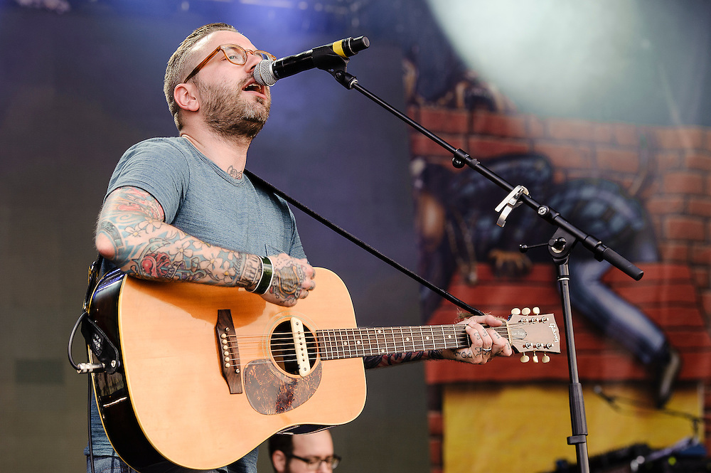 Photos of the band City and Colour performing at Catalpa Music Festival on Randall's Island, NYC. July 29, 2012. Copyright © 2012 Matthew Eisman. All Rights Reserved. (Photo by Matthew Eisman/ Getty Images)
