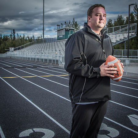 Colony Highschool Assistant Football Coach Nathan Dahl, Palmer, Alaska (Clark James Mishler)
