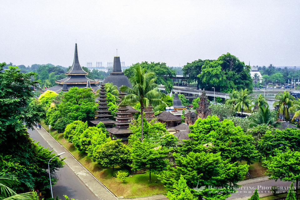 Java, Jakarta. Taman Mini Indonesia Indah. A recreation park with elements from all regions in Indonesia. (Photo Bjorn Grotting)