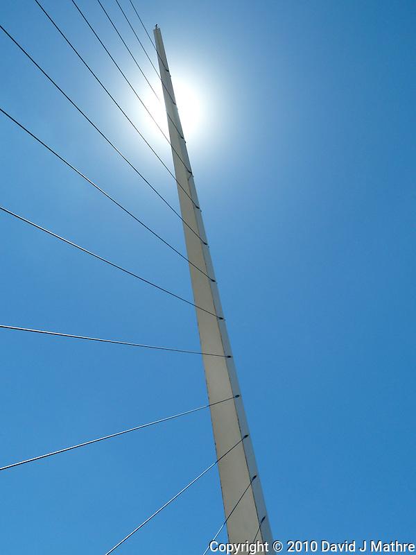Puente de la Mujer (Puerto Madero) Bridge in Buenos Aries. Images taken with a Leica V-Lux 20 camera (ISO 80, 4.7 mm, f/5.6, 1/500 sec) (David J Mathre)