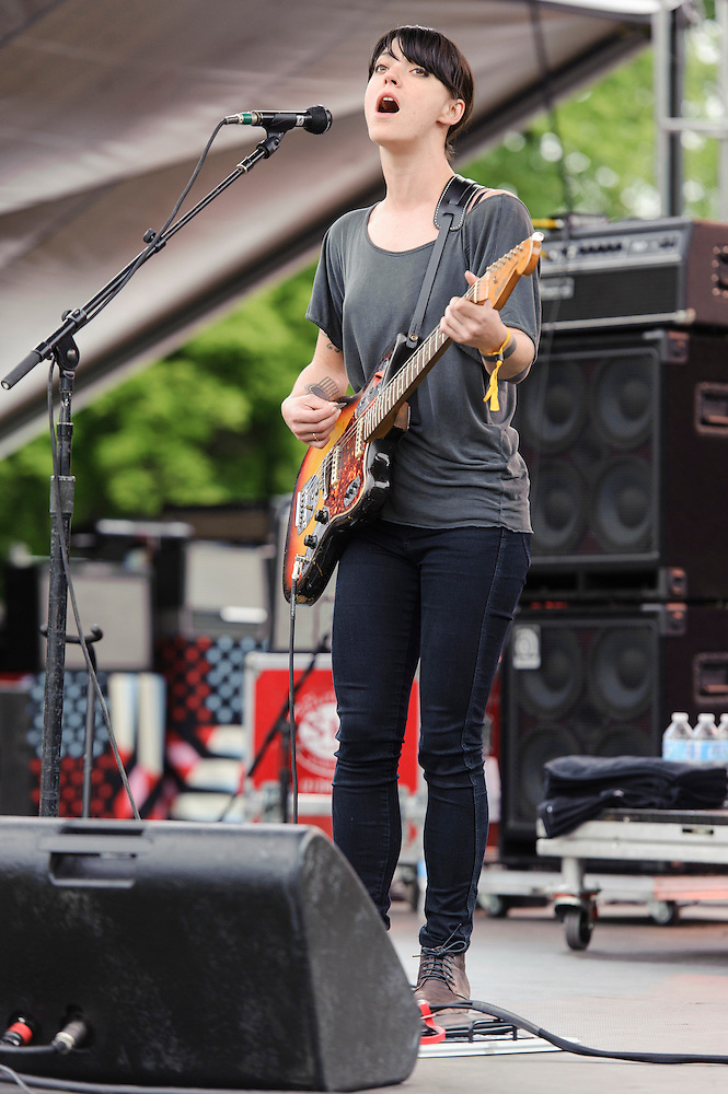 Photos of Sharon Van Etten performing live at The Great GoogaMooga Festival at Prospect Park in Brooklyn, NY. May 18, 2013. Copyright © 2013 Matthew Eisman. All Rights Reserved (Photo by Matthew Eisman/WireImage)