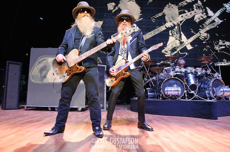 COLUMBIA, MD - October 6th, 2012 - ZZ Top perform at the 2012 Virgin Mobile FreeFest in Columbia, MD. The band played new material from their recently released album La Futura, as well as old hits such as &quot;Legs&quot; and &quot;Gimme All Your Lovin.&quot; (Photo by Kyle Gustafson / For The Washington Post) (Kyle Gustafson/For The Washington Post)
