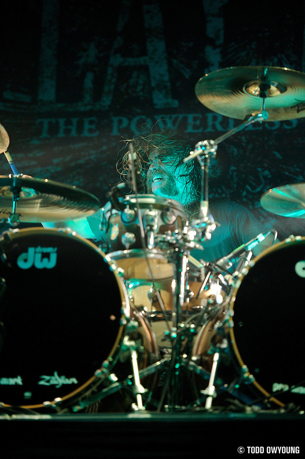 """Metal band As I Lay Dying performing at the Pageant in St. Louis on July 25, 2010 on """"The Cool Tour."""" (Todd Owyoung)"""