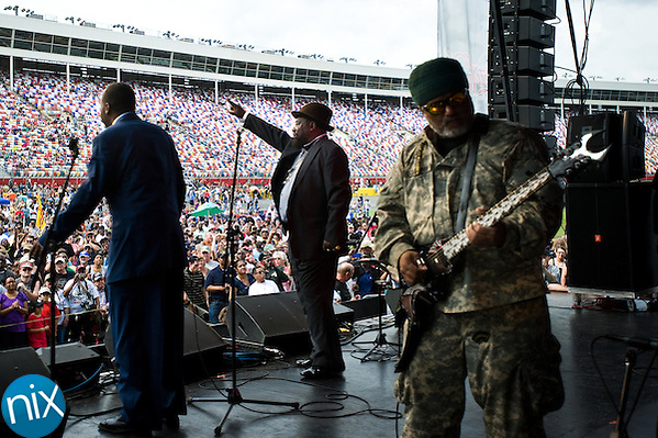 George Clinton & the Parliament Funkadelics perform during the  Vietnam Veterans Homecoming Celebration at Charlotte Motor Speedway in Concord on March 31, 2012. (James Nix)