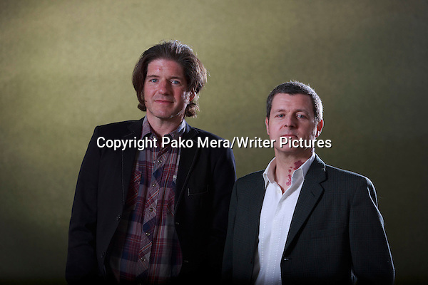 Charlie Adlard and Robbie Morrison at Edinburgh International Book Festival 2014  17th August 2014 Picture by Pako Mera/Writer Pictures WORLD RIGHTS (Pako Mera/Writer Pictures)