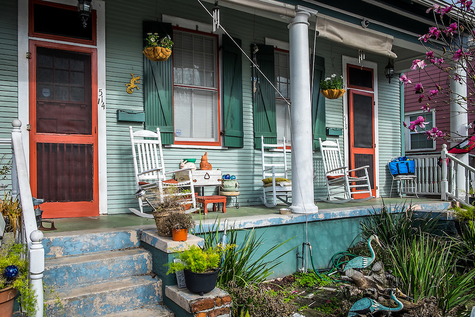 NEW ORLEANS - CIRCA FEBRUARY 2014: View of a typical facade in Algiers Point, a popular community within the city of New Orleans in Louisiana. (Daniel Korzeniewski)