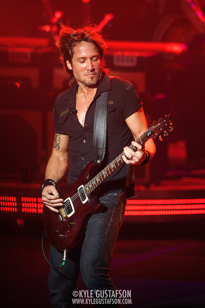 COLUMBIA, MD - August 8th, 2013 -   Keith Urban performs at Merriweather Post Pavilion as part of his Light The Fuse Tour. Urban's eighth studio album, Fuse, will be released in September.(Photo by Kyle Gustafson/For The Washington Post) (Kyle Gustafson/For The Washington Post)