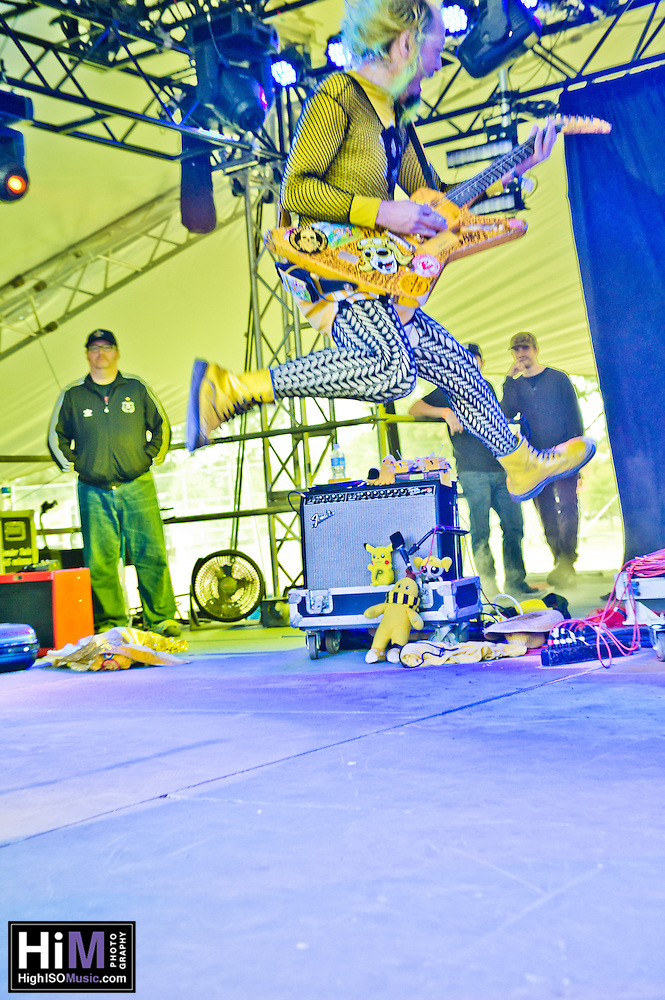 Peelander-Z playing at the 2011 Voodoo Festival in New Orleans, LA. (Golden G. Richard III)