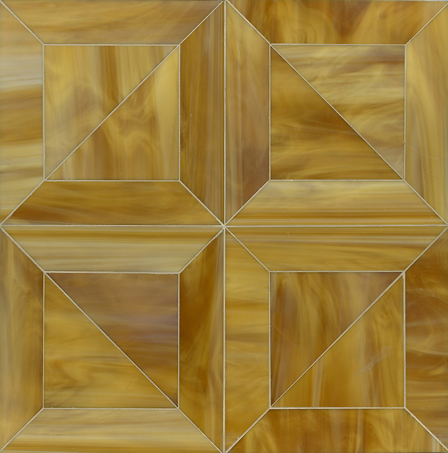 Truman Jewel glass mosaic waterjet field shown in Tiger's Eye. (New Ravenna Mosaics 2012)