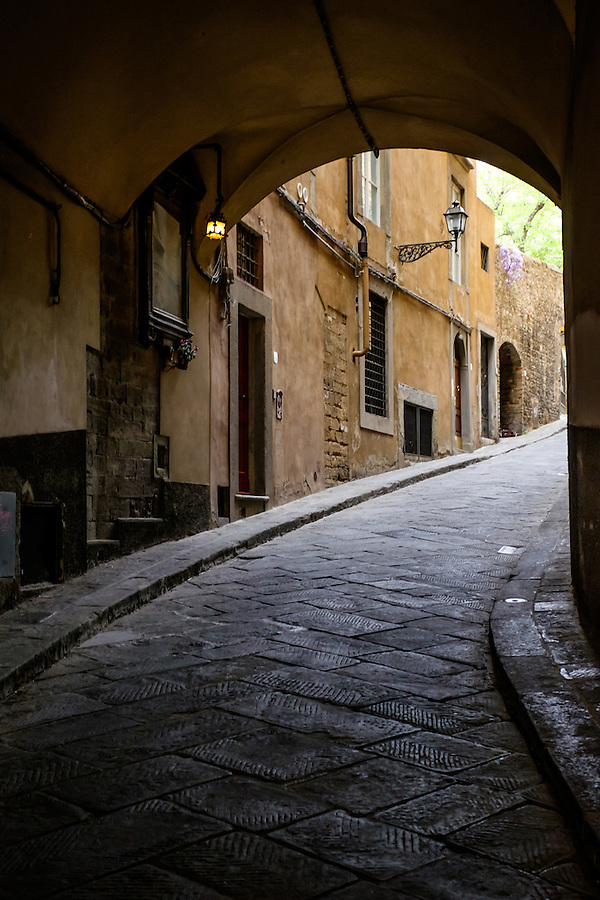 FLORENCE, ITALY - CIRCA MAY 2015:  Typical street in Florence. (Daniel Korzeniewski)