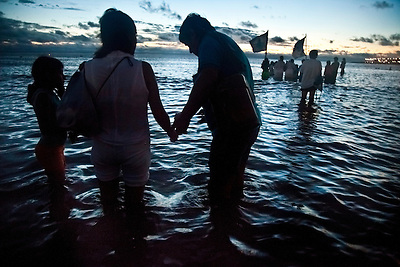 "Rituals on the ""Day of Yemanja"", goddess of water, in Montevideo, Uruguay. (Jason Rothe)"