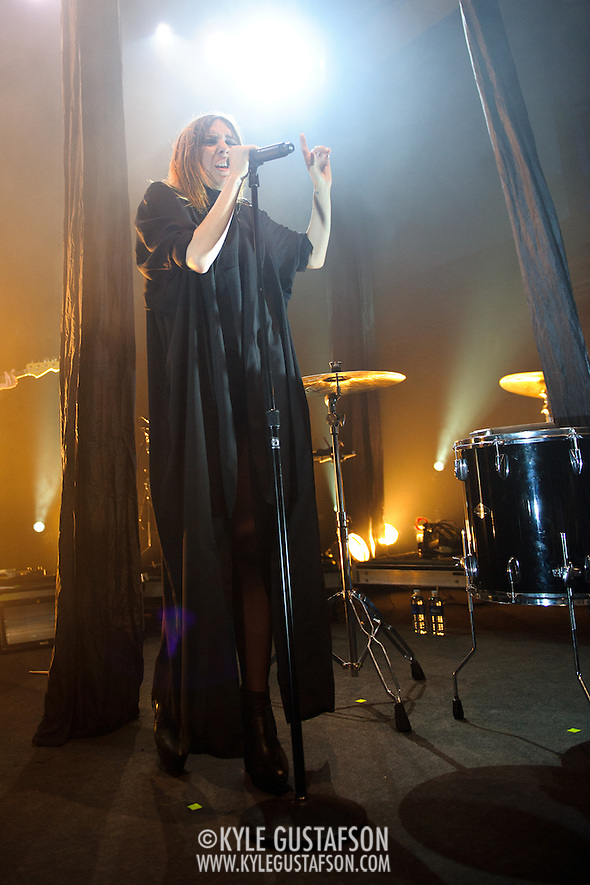 WASHINGTON, D.C. - May 15th, 2011: Swedish pop chanteuse Lykke Li performs at the 9:30 Club in Washington, D.C. She released her sophomore album, Wounded Rhymes, earlier this year. (Photo by Kyle Gustafson/For The Washington Post) (Photo by Kyle Gustafson / For The Washington Post)