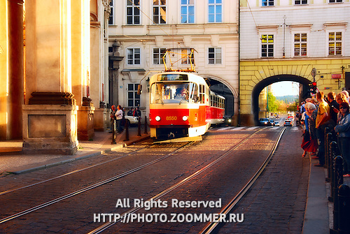 Tram on Prague street