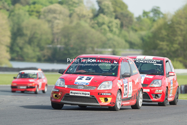 #25 Andrew Christie, Ford Fiesta ST during BRSCC XR Challenge and Scottish Fiesta Championship as part of the BRSCC Club Car Championships at Oulton Park, Little Budworth, Cheshire, . May 23 2015. World Copyright Peter Taylor/PSP. Copy of publication required for printed pictures.  Every used picture is fee-liable. http://archive.petertaylor-photographic.co.uk (Peter Taylor/PSP)