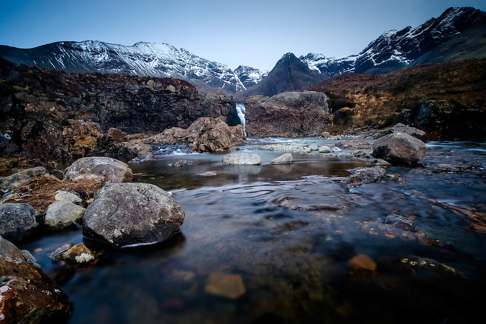 SCOTLAND - CIRCA APRIL 2016: The Fairy Pools Waterfalls in a popular tourist attraction in Glenbrittle, Skye an Island in Scotland (Daniel Korzeniewski)