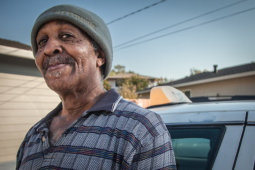 """I was the first black cab diriver in Pleasant Hiill...I've been here 19 years.""  tVon Going, cab driver in Pleasant Hill California (Clark James Mishler)"