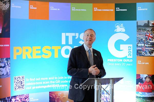 Preston City Council Leader Peter Rankin Launches Preston Guild 2012 - photo by Simon Kirwan