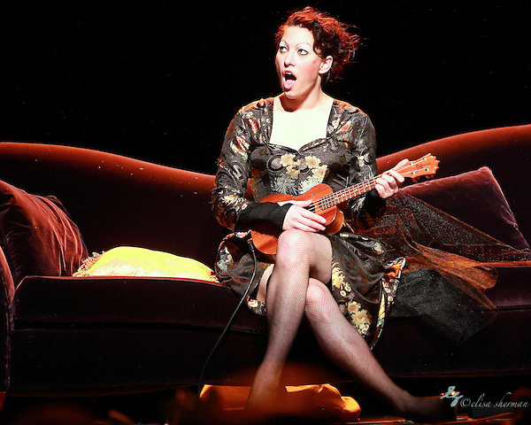 "Amanda Palmer performs on November 9th, 2011 during the ""An Evening with Neil Gaiman & Amanda Palmer""  at the Moore Theatre. (Elisa Sherman)"
