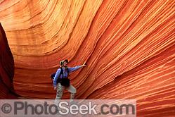 Fossilized sand dunes, Coyote Buttes, Paria Canyon-Vermilion Cliffs Wilderness Area, Arizona (© Tom Dempsey / Photoseek.com)