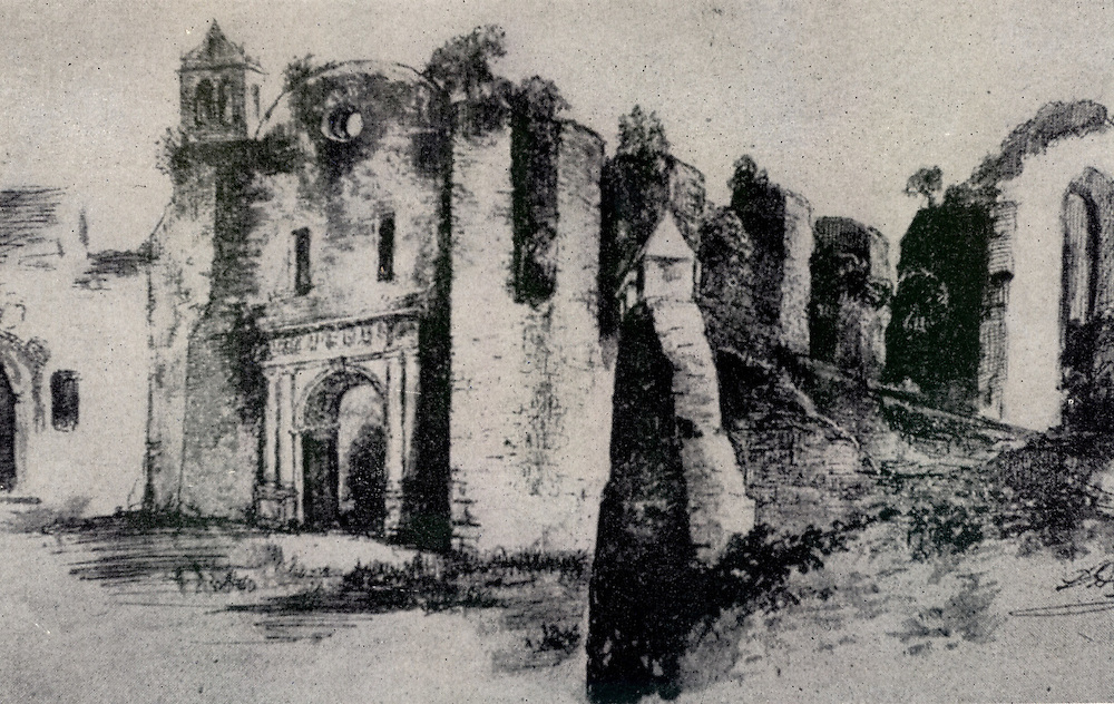 San Franciso. Fachada antes de 1930.  Dibujo Luis Desangles