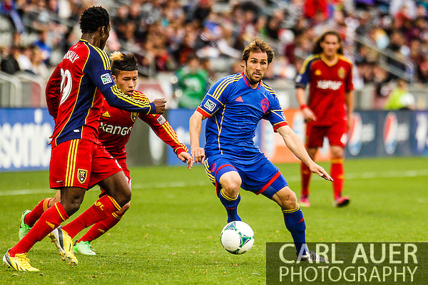 April 6th, 2013 - Colorado Rapids midfielder Brian Mullan (11) makes a move past the Real Salt Lake defense in first half action of the MLS match between Real Salt Lake and the Colorado Rapids at Dick's Sporting Goods Park in Commerce City, CO (Carl Auer/Newsport)