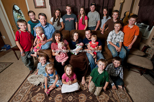 The Duggar family following the birth of the second grandchild in June 2011... (Beth Hall)