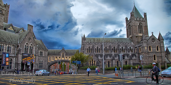 Looking at the beautiful Christ Church Cathedral in Dublin as a storm is brewing in the background. (Ian C Whitworth)