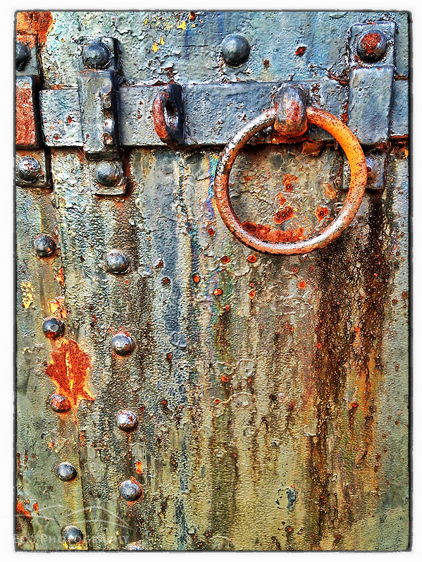 "Iron door on Lytle Battery at Fort Stark State Historic Site in New Castle, New Hampshire. iPhone photo - suitable for print reproduction up to 8"" x 12"". (Jerry Monkman)"