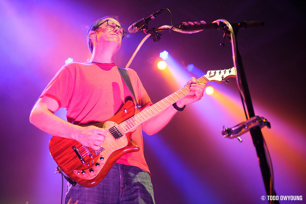 The band moe. performing at The Pageant in St. Louis, Missouri on February 16, 2012. (Todd Owyoung)