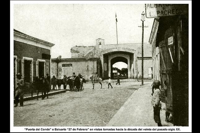 La Puerta del Conde antes de la intervención militar de EEUU de 1916