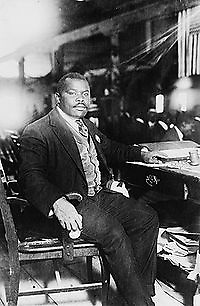 Marcus Garvey 1924-08-05, panafricanista y líder mesiánico