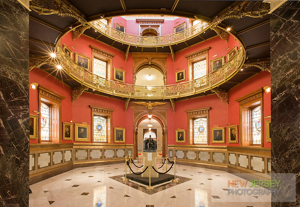 Rotunda at the New Jersey Legislative State House, c1792, Trenton, New Jersey (Steve Greer / SteveGreerPhotography.com)