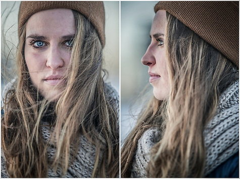 Krista Lundberg at Westchester Lagoon, Anchorage  klumberg.ak@gmail.com (© Clark James Mishler)