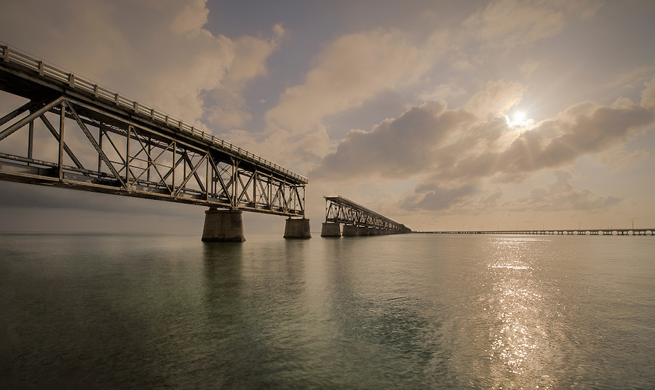 View of the Bahia Honda bridge in the Florida Keys. (All Rights Reserved.)