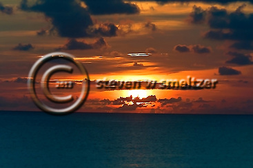 Clouds at Sunset Grand Cayman from Seven Mile Beach (Steven Smeltzer)