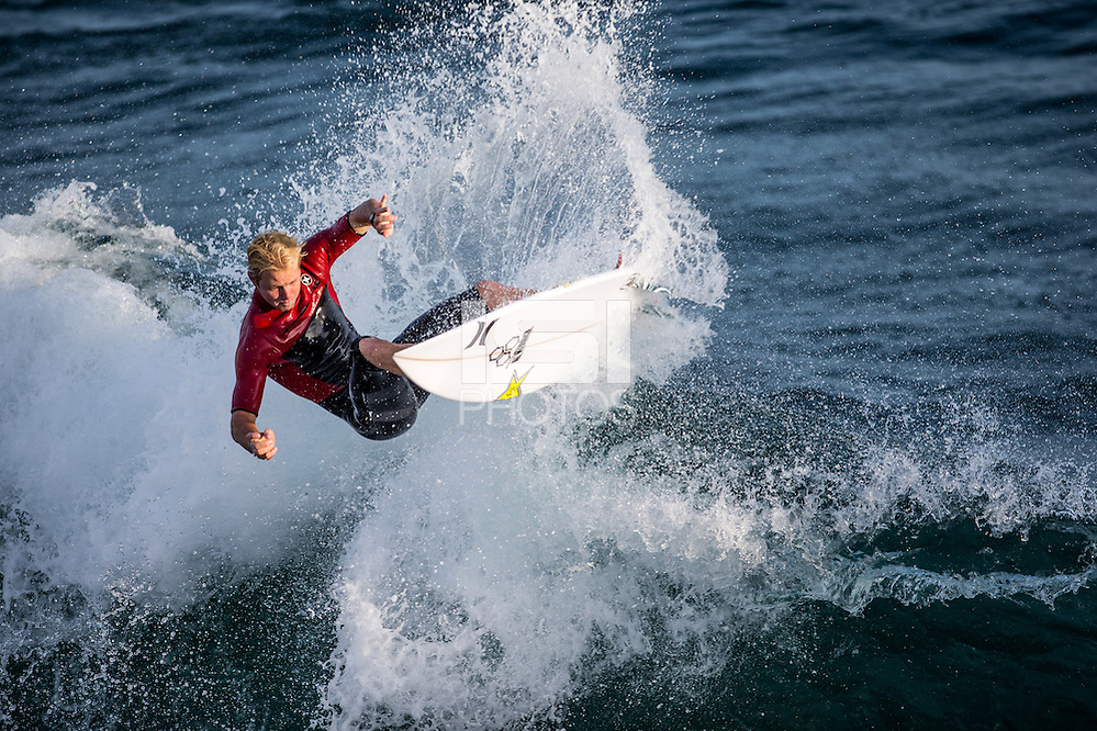 HUNTINGTON BEACH, California - July 2016: The 2016 Vans U.S. Open of Surfing a WSL Qualifying Series (QS) event held on the South side of the Huntington Beach pier. (Michael Janosz/isiphotos.com)