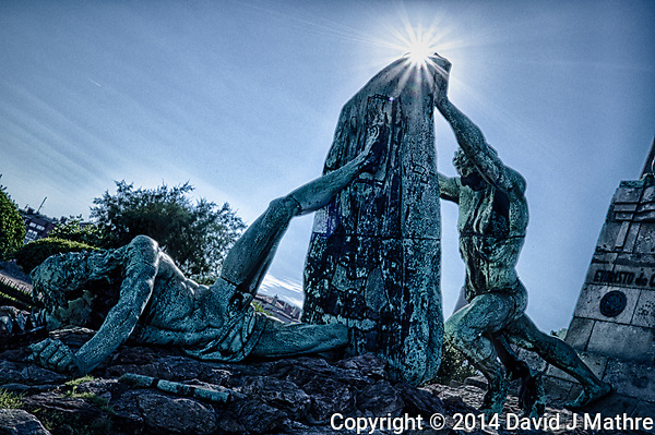 Monument to Evaristo Churruca in Getxo, Spain. Composite of 3 images taken with a Leica X2 camera (ISO 100, 24 mm, f/14). Raw images processed with HDR Efex Pro, Capture One Pro, and Photoshop CC. (David J Mathre)