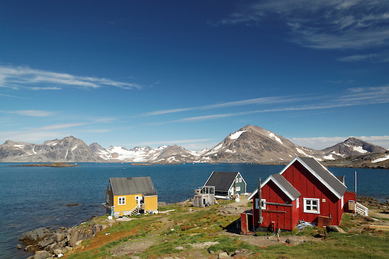 Settlement of Kulusuk on Torsuut Tunoq sound, East Greenland (Brad Mitchell)
