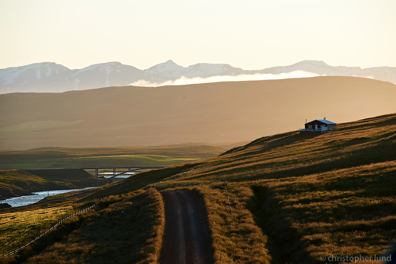 Evening glow near Litlagerði in Dalsmynni. River Fnjóská left, North Iceland. (Christopher Lund/©2011 Christopher Lund)