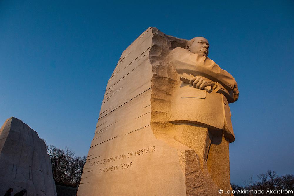 Postcard: Martin Luther King, Jr. Memorial at dusk
