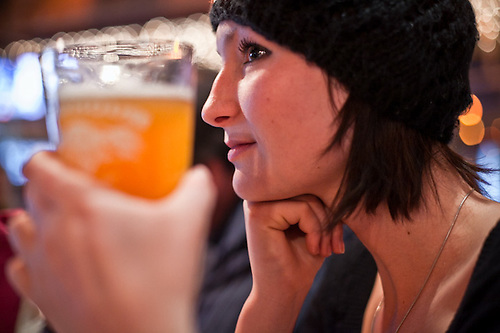 Accountant, Jessica Boyce, at the Glacier Brew House, downtown Anchorage (Clark James Mishler)