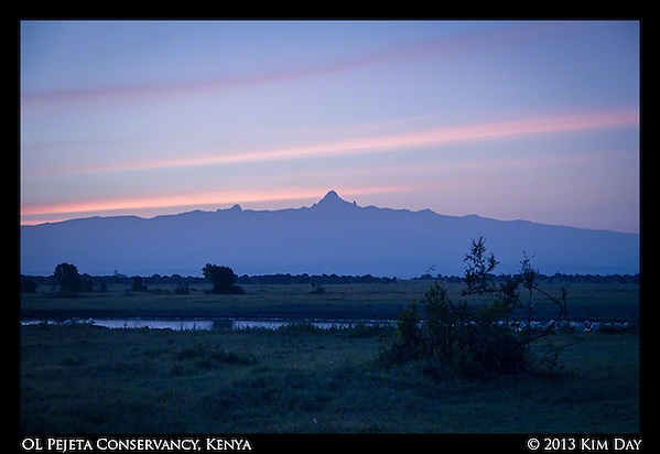 Dawn On Mt. Kenya Sweetwaters - OL Pejeta - Kenya September 2013 (Kim Day)