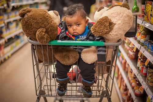Six month old LeBron at Fred Meyers in Anchorage, AK minnie.oktollik@gmail.com (Minnie Lane) (© Clark James Mishler)