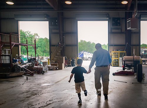Superior Transportation CEO and son silhouette