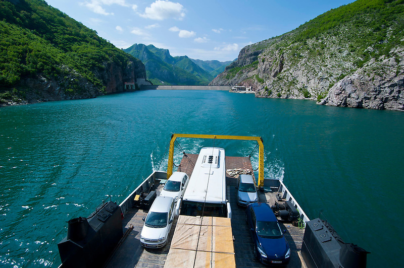 Künstlicher Stausee Koman, Albanien,Balkan*Artifical lake Komani, Albania,Balkan (Michael Runkel)